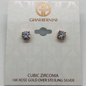 Brand New Rose Gold Giani Bernini Studs